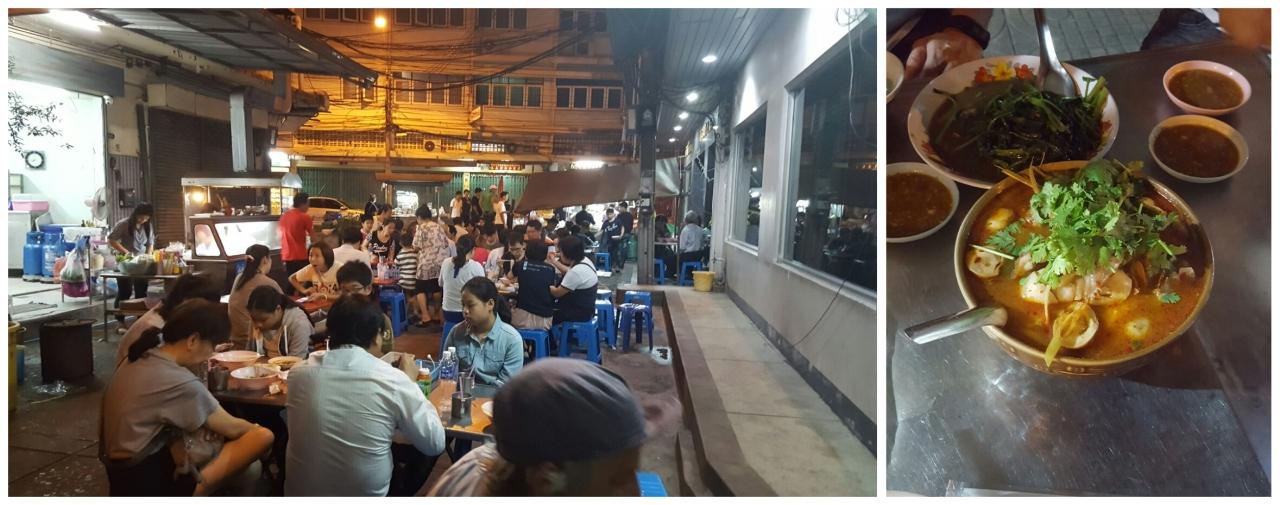 Thai Street Food - Bangkok China Town - Tom Yum Soup
