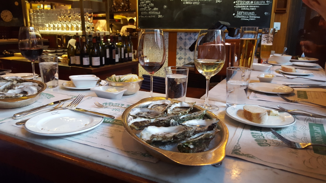 Fresh Oysters on bar at Bakfickan Restaurant Sweden